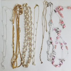 Lot Of 7 Necklaces Wearable Bundle